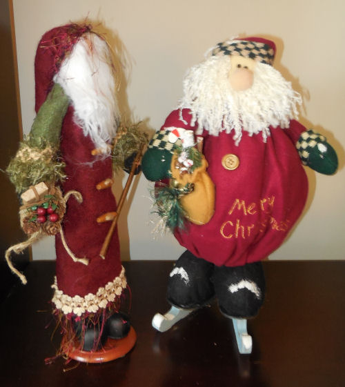 Santa Claus figures from my husband
