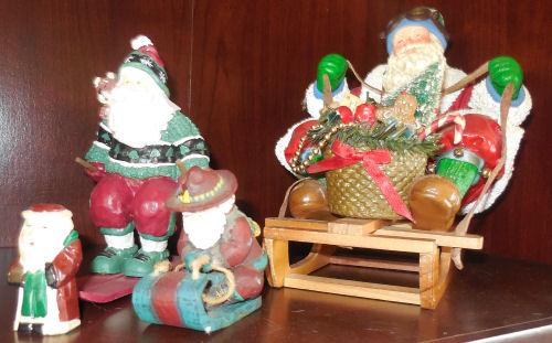 Snow loving Santas