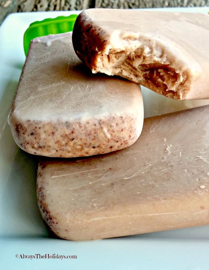 Paleo nutella Pudding pops