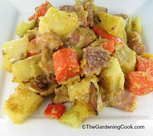 Ham and vegetable casserole