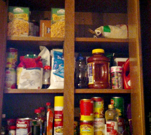Leave a bit of food on your plate to have a stocked pantry for the whole year.