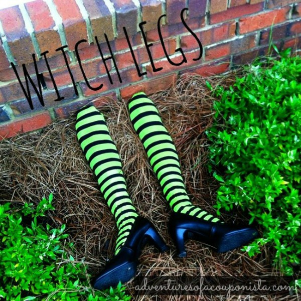Witch feet Halloween decoration