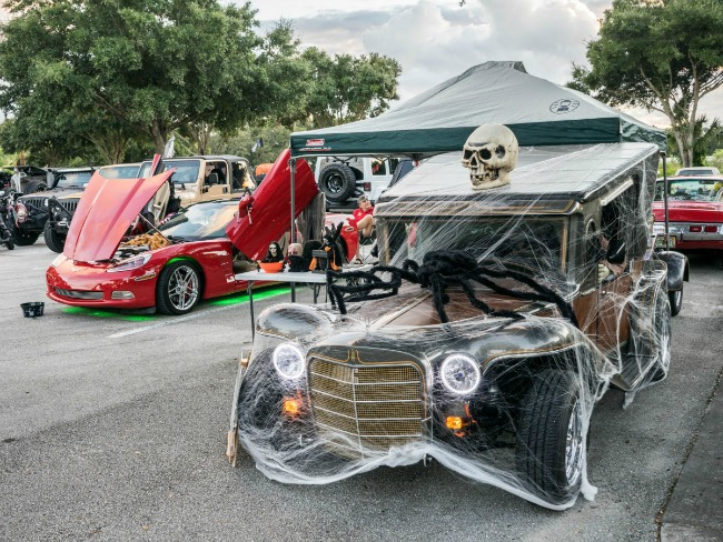 Decorating Car For Halloween Part - 16: Halloween Car Decorations On A Classic Car. Image ...