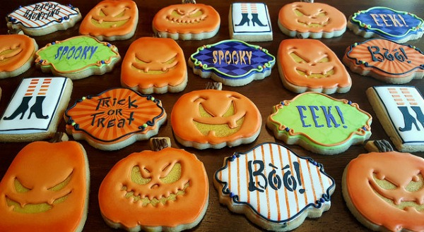 Decorated Halloween Cookies
