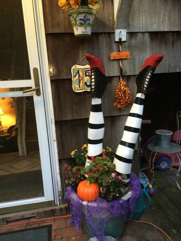 Witches legs Halloween decoration