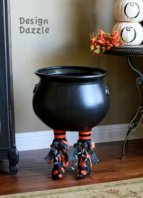 Witches feet DIY Candy holder