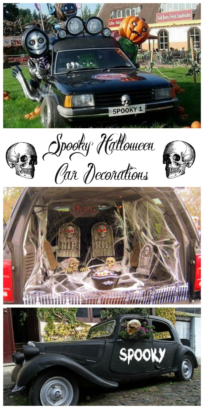 These Halloween car decorations show that you can do more than just decorate your home for Halloween. Don't forget your car! #halloweencar #halloweencardecorating