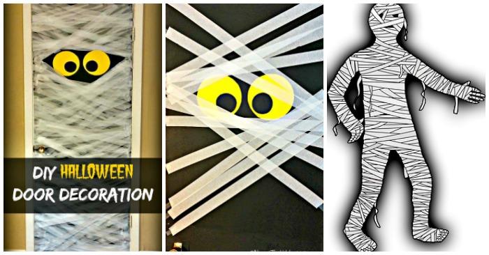 & Halloween Door Decorations - Spooky DIY Mummy Door Decoration