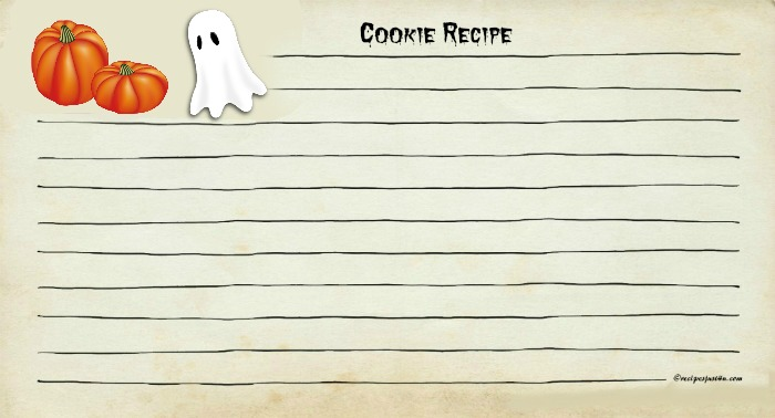 Halloween Recipe card