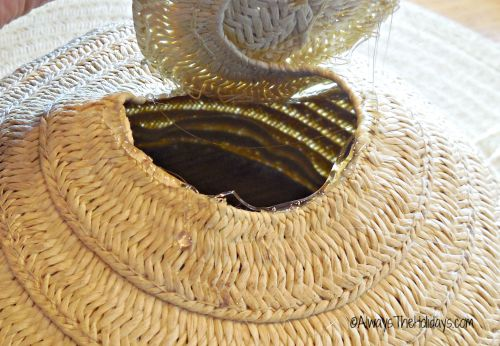 repaired straw hat