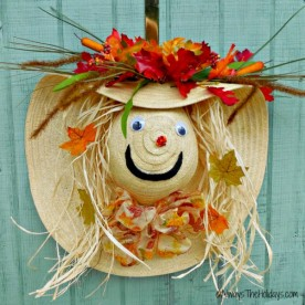 Scarecrow wreath autumn door decoration