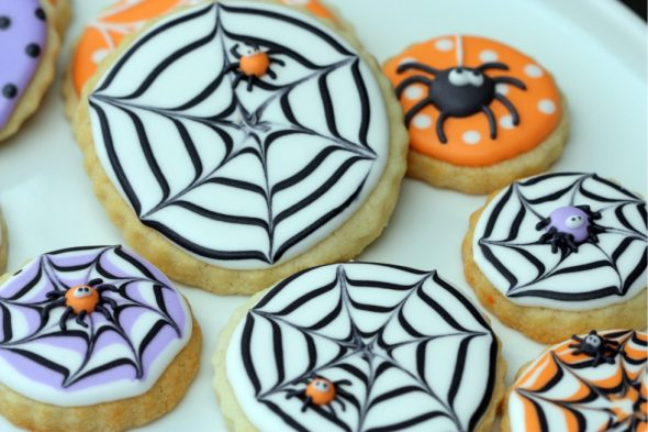 Spiderweb cookies