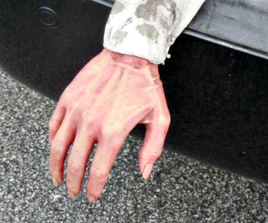 Spooky Halloween hand