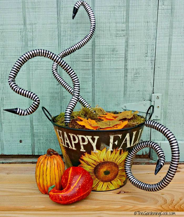 scary Halloween snake basket