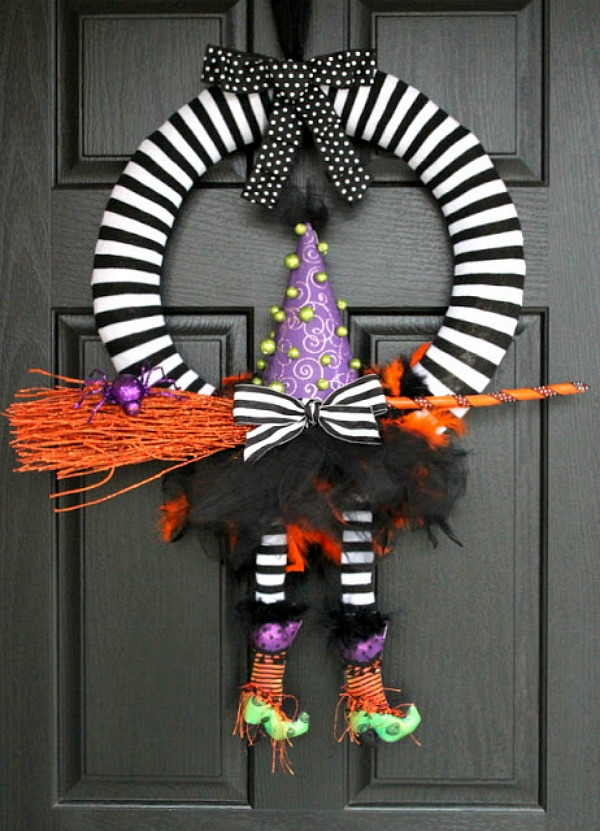 Witch leg wreath