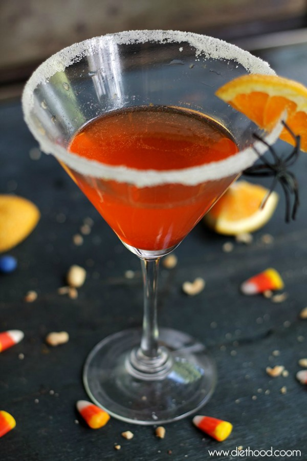 Candy corn cocktail from anightowlblog.com