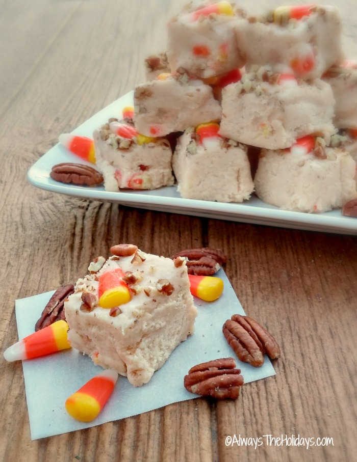 candy corn pecan fudge