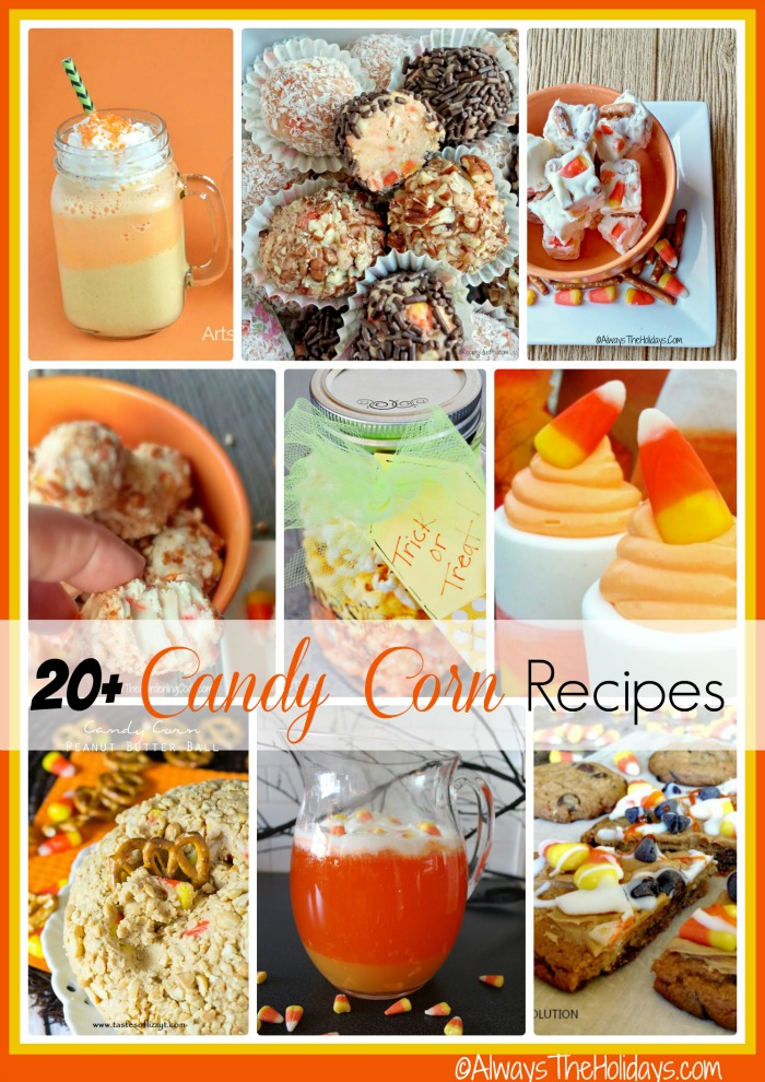 Do you like candy corn? You will love this round up of 20+ of my favorite candy corn recipes. From chex mix, to fudge and milk shakes, I've got something for everyone.