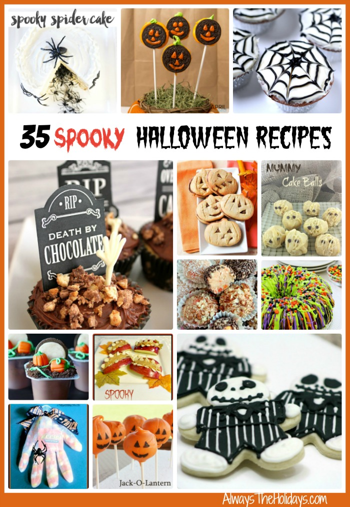 35 of the most spooky and ghoulish recipes around. Delight both young and the young at heart in your house this holiday season.