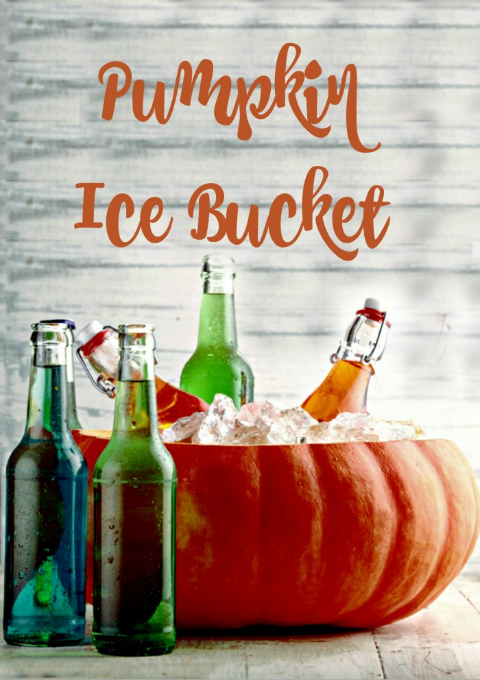 Pumpkin Ice Bucket and bottles of beer