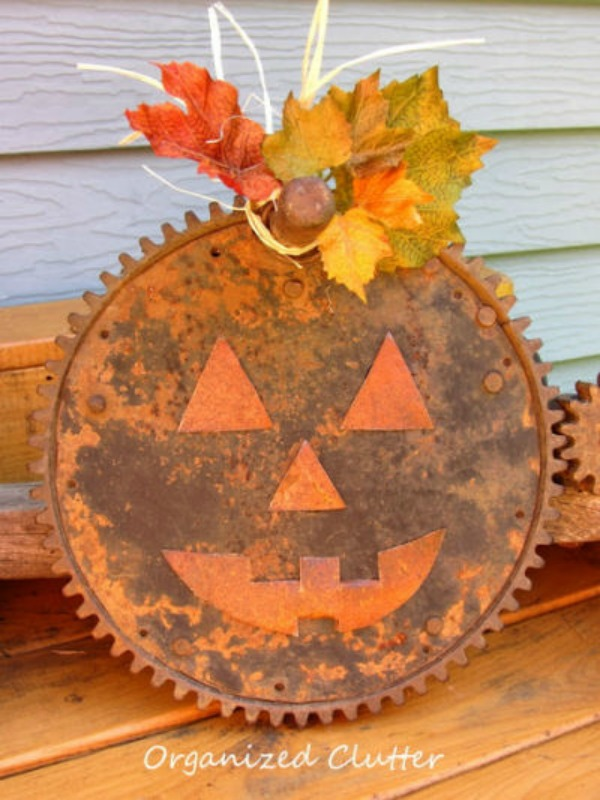 Rusty junk pumpkin