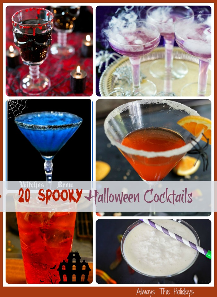 If you are hosting a grown up Halloween party, these 20 spooky Halloween cocktail recipes will be sure to make the party a success.