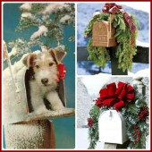 dress up your mailbox for the holidays.