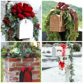 These holiday mailboxes add great curb appeal to your home.