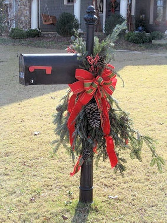 Traditional holiday mailbox