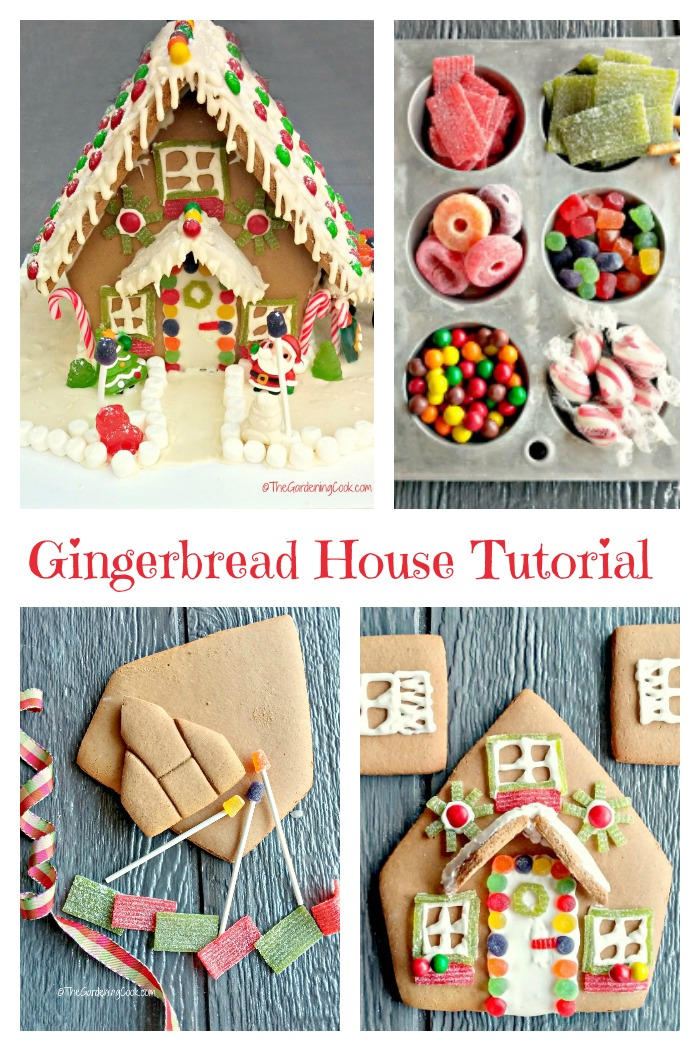 This gingerbread house tutorial gives step by step instructions for making a Candy Gingerbread House.