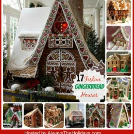 Need some inspiration for your Gingerbread house this year? Try one of these festive 17 designs. alwaystheholidays.com