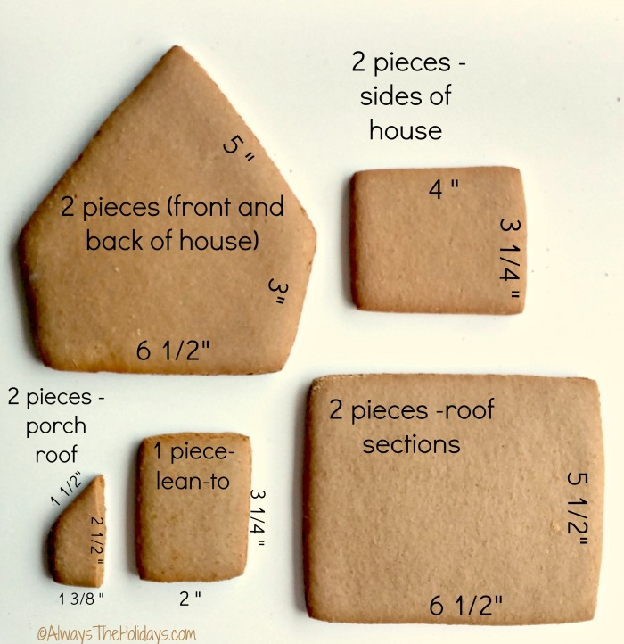 Pieces of gingerbread for the house