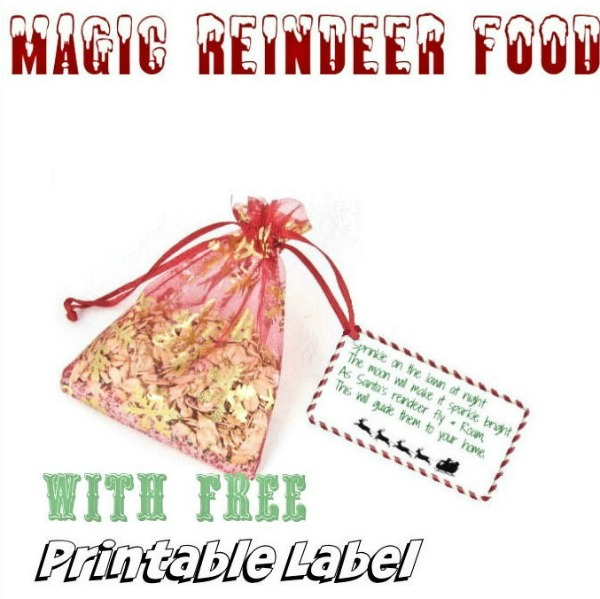 graphic relating to Magic Reindeer Food Printable named Magic Reindeer Food stuff with No cost Printable Label - Enjoyable Reindeer