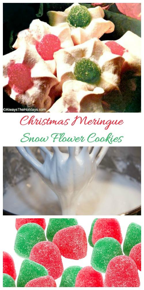 Snow Flower meringue cookie recipe