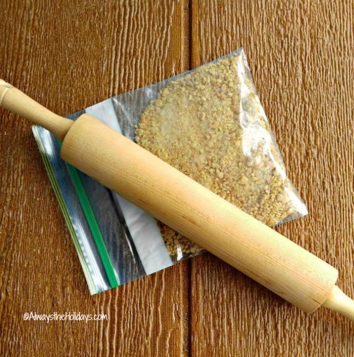 Crush your graham crackers