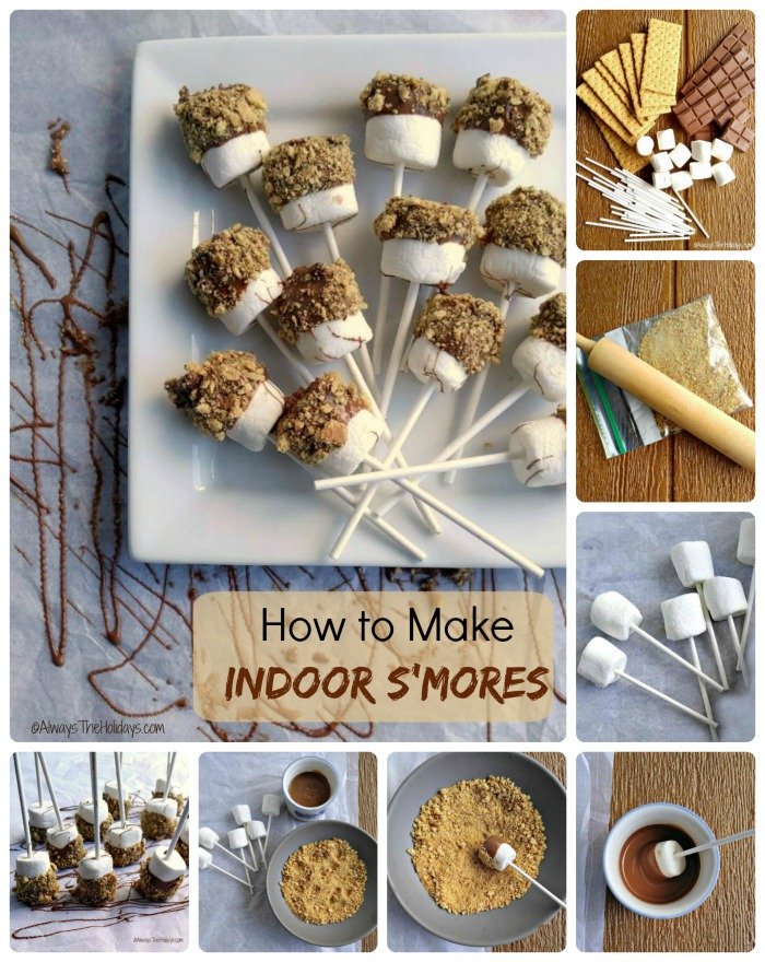 Making indoor s'mores is super easy and the kids will love them! alwaystheholidays.com