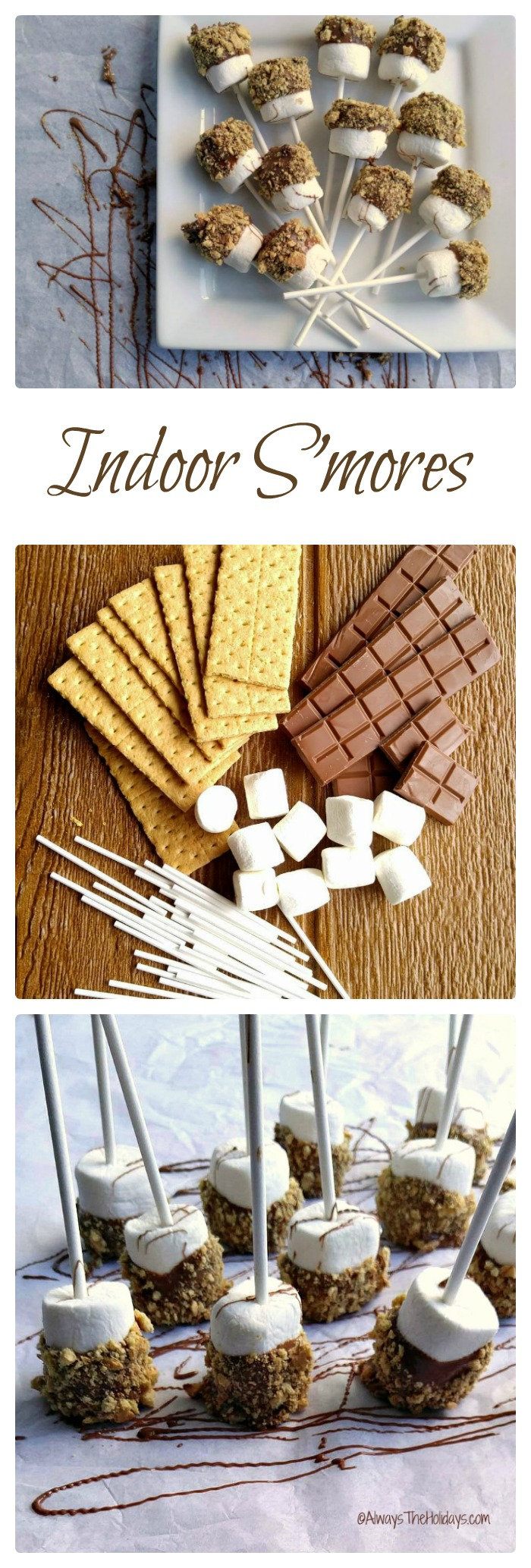 These indoor s'mores are the perfect rainy day snack for those days when you can't go camping.  alwaystheholidays.com