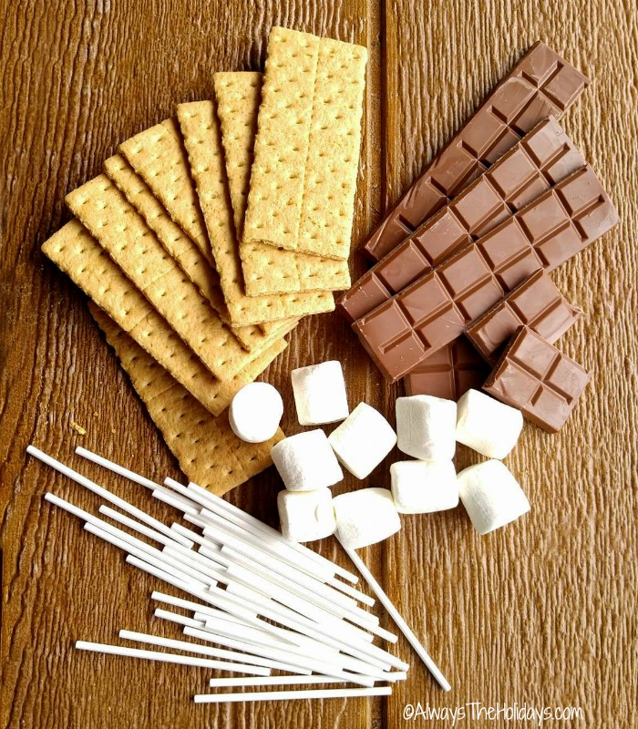 Ingredients for Indoor S'mores