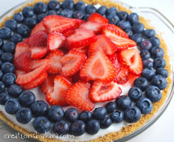 Berry Cheesecake for the 4th of July from creationsbykara.com