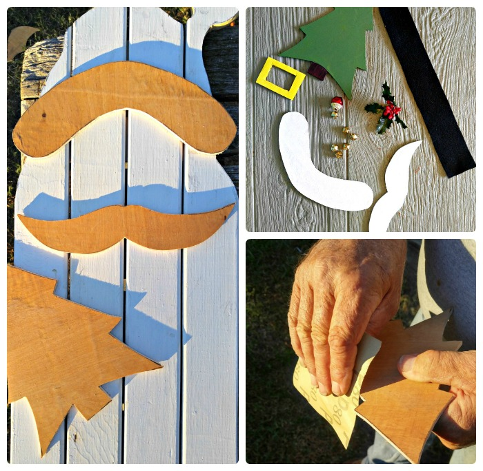 plywood cutouts will add some dimension to the wall hanging
