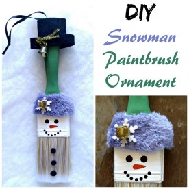 Snowman Paintbrush Ornament