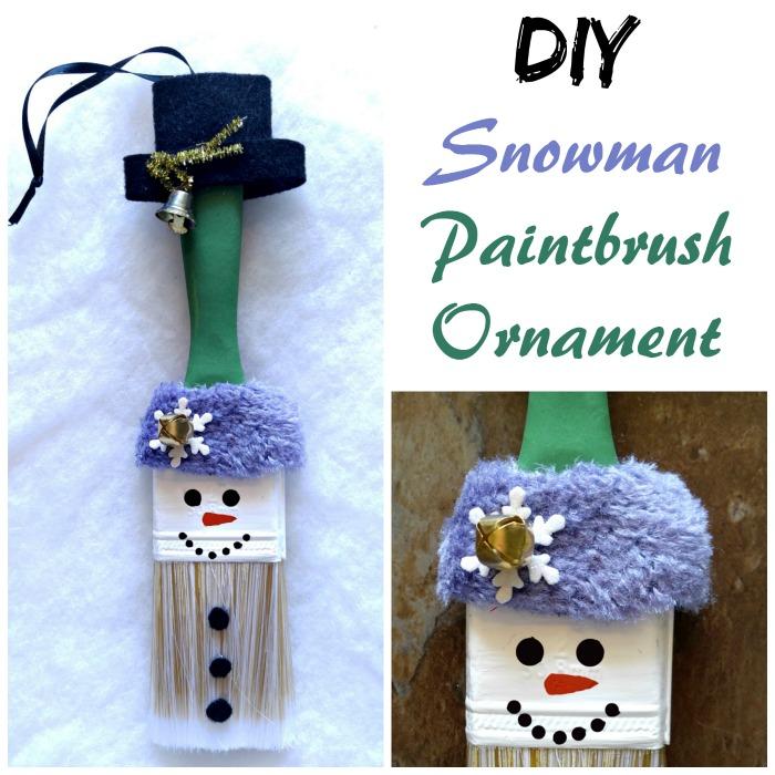 Snowman Paintbrush Ornament