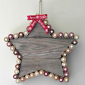 Rustic cork Christmas Star