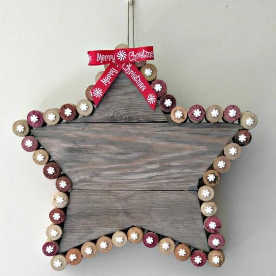 Rustic cork Christmas Star