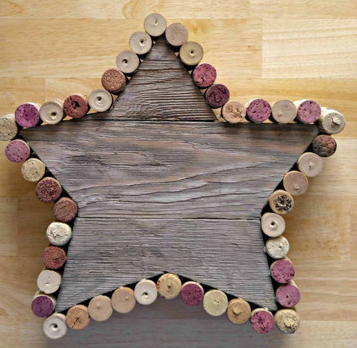 Add corks all around the star shape