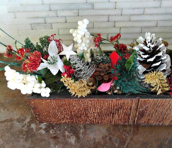 Greenery arrangement for the DIY Christmas Centerpiece