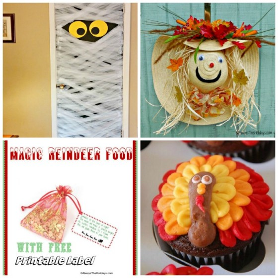 These 2016 Top Posts were the most visited roundups and projects on Always The Holidays last year. From a mummy doorway to a scarecrow door decoration, these were all a big hit with my readers