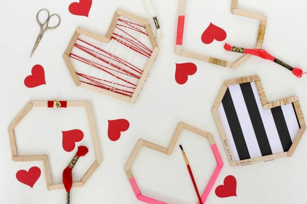 Popsicle stick wooden hearts from makeanddocrew.com