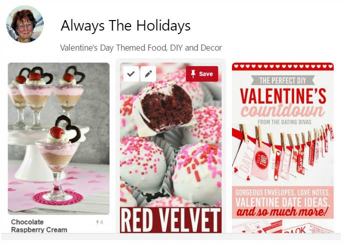 Valentines Day Pinterest Board
