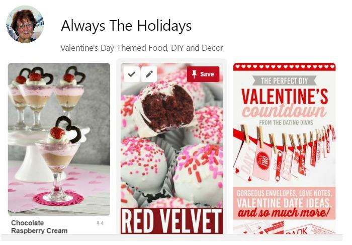 Valentines Day Pinterest Board